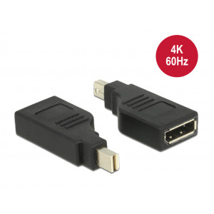 DELOCK Ανταπτορας mini Displayport(M) σε Displayport(F), 4K, 90° Turned
