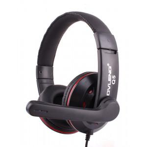 OVLENG USB Headset Q5, 40mm, Microphone, Volume Control, Black-Red