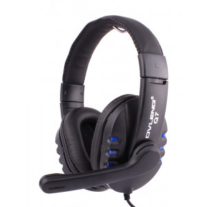 OVLENG USB Headset Q7, 40mm, Microphone, Volume Control, Black-Blue