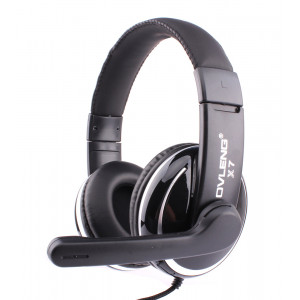 OVLENG 3.5mm Headset X7, 40mm, Microphone, Volume Control, Black