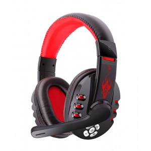 OVLENG Bluetooth Headset V8-1, 40mm, Microphone, Black-Red