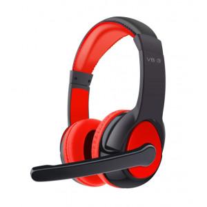 OVLENG Bluetooth Headset V8-3, 40mm, Microphone, Black-Red