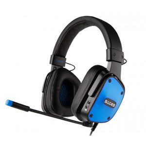 SADES Gaming Headset Dpower, 3.5mm, 40mm ακουστικα, Blue