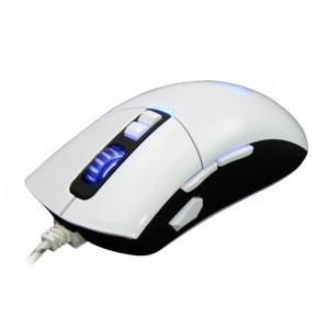 SADES Gaming Mouse Gunblade, Customizable, 4000 DPI, White