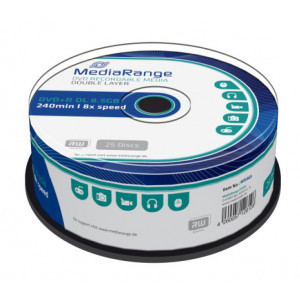 MEDIARANGE DVD+R Double Layer, 8.5GB/240min, 8x speed, Cake 25