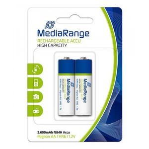 MEDIARANGE επαναφορτιζομενη μπαταρια Mignon AA(HR6), 2600mAh, 2 τεμ.