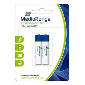 MEDIARANGE επαναφορτιζομενη μπαταρια Micro AAA(HR03), 1000mAh, 2 τεμ.