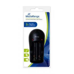 MEDIARANGE Plug-in φορτιστης για Ni-MH μπαταριες, 2 slots, Black