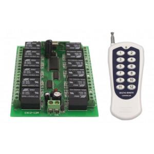 Δέκτης τηλεχειρισμού HX-12CH 12 Καναλιών με χειριστήριο