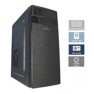 POWERTECH Έτοιμος Η/Υ, Intel Celeron G3900, 4GB RAM, 500GB HDD, DVD-RW (ΕΩΣ 6 ΑΤΟΚΕΣ ΔΟΣΕΙΣ)