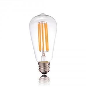 ΛΑΜΠΤΗΡΑΣ LED EDISON E27 8W 230V ΔΙΑΦΑΝΟ 112.ST644.60Z