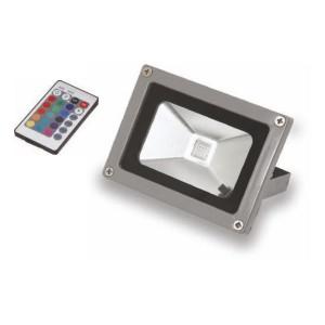 ΠΡΟΒΟΛΕΑΣ LED 10W 6000 D.L. RGB με τηλεχειριστηριο