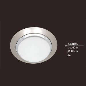 INDOOR LIGHTING LAMP 40W G9 230V 1030/1 Φ180X70 MM