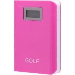 GOLF Power Bank LCD06 15600mAh, LCD Display, 2x output, Pink