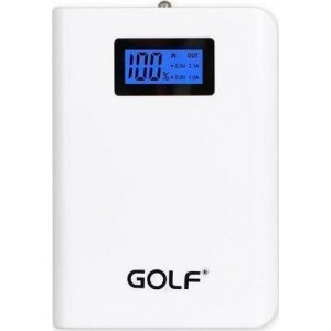 Power Bank GOLF  LCD04 10400mAh LCD Display 2x output white GF-LCD04WH