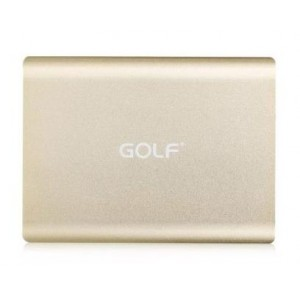 Power Bank GOLF Tiger 131 20000mAh, Thin, 2x output, Gold GF-131G