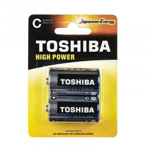 ΑΛΚΑΛΙΚΕΣ ΜΠΑΤΑΡΙΕΣ TOSHIBA HIGH POWER C LR14GCP BP-2 (2 TMX)