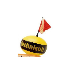 Στρογγυλή κίτρινη σημαδούρα από την technisub 515.010