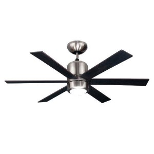 """CEILING FAN 44 """"6 WINGS PRIMO L4416 BLACK WITH REMOTE CONTROL"""
