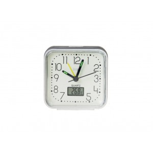 Ρολοι θερμομετρο και ξυπνητηρι σε χρωμα ασημι της Telco XG8676G