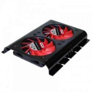 "HDD cooler για σκληρους δισκους 3,5"", με δυο ανεμιστηρες των 60mm XILENCE XPHD.2F.B"