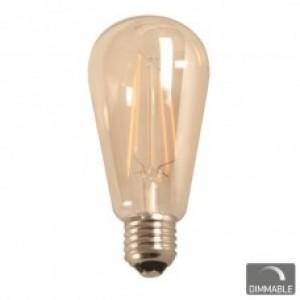 ΛΑΜΠΤΗΡΑΣ LED E27 7WATT ST64 FILAMENT 2200 W.W. DIMMABLE