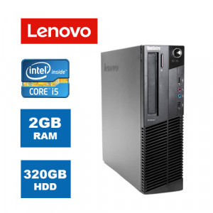 LENOVO SQR Η/Υ M90p SFF, i5-650, 2GB, 320GB HDD, DVD, Βαμμενο PC-128-SQR