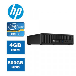 HP PC 800 G1 USDT, i5-4460S, 4GB, 500GB HDD, DVD, REF SQR PC-888-SQR