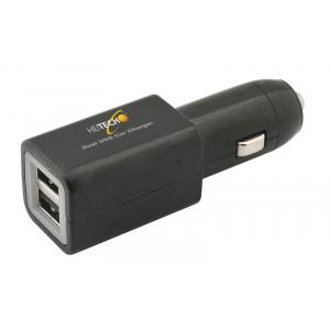 HEITECH 05001629 ΔΙΠΛΟΣ ΦΟΡΤΙΣΤΗΣ USB ΡΕΥΜΑΤΟΣ ΑΥΤΟΚΙΝΗΤΟΥ
