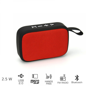 AKAI ABTS-MS89R ΦΟΡΗΤΟ ΗΧΕΙΟ BLUETOOTH ΜΕ USB ΚΑΙ SD – 2.5W