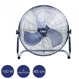 OSIO EFF-4030 ΜΕΤΑΛΛΙΚΟΣ ΑΝΕΜΙΣΤΗΡΑΣ ΔΑΠΕΔΟΥ 40CM (16″) 100W
