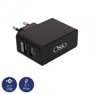 OSIO OTU-385B ΦΟΡΤΙΣΤΗΣ ΡΕΥΜΑΤΟΣ ΜΕ ΔΙΠΛΗ ΕΙΣΟΔΟ USB