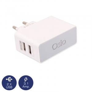 OSIO OTU-385W ΦΟΡΤΙΣΤΗΣ ΡΕΥΜΑΤΟΣ ΜΕ ΔΙΠΛΗ ΕΙΣΟΔΟ USB