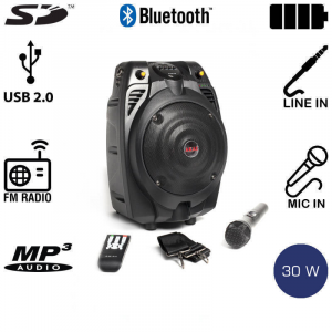 AKAI SS022A-X6 ΦΟΡΗΤΟ ΗΧΕΙΟ ΕΝΙΣΧΥΤΗΣ USB/SD CARD 30W RMS