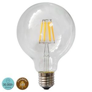 ΛΑΜΠΤΗΡΑΣ LED E27 8WATT G95 FILAMENT 2700 W.W. MILKY