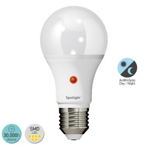 ΛΑΜΠΤΗΡΑΣ LED E27 10WATT A60 6000 D.L. DAYNIGHT