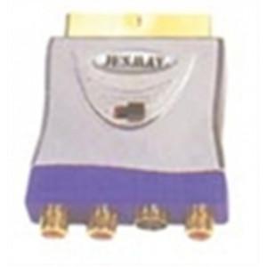 SCART ΣΕ 3 RCA +1 S-VHS CR-639
