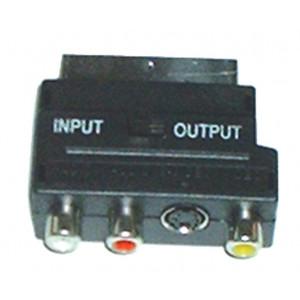 SCART-> 3 RCA Θ + S-VHS
