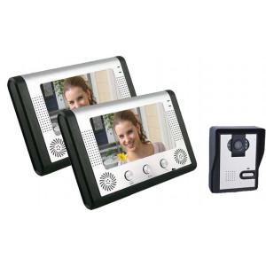 Σετ θυροτηλεόρασης 2 μόνιτορ & 1 κάμερα VDP-112 (ΕΩΣ 6 ΑΤΟΚΕΣ ΔΟΣΕΙΣ)