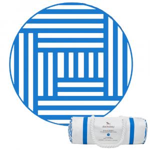 ΠΕΤΣΕΤΑ MICROFIBER DOCK & BAY ROUND 190xΦ75cm BLUE MAZE