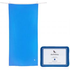 ΠΕΤΣΕΤΑ MICROFIBER DOCK & BAY L 160x80cm BLUE