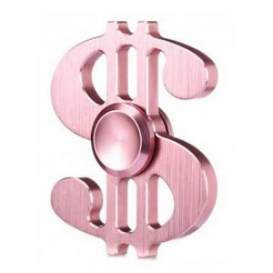 Fidget Spinner Aluminum Dollar Pink 3 min 21892