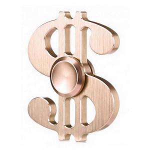 Fidget Spinner Aluminum Dollar Gold 3 min 21893