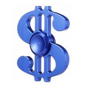 Fidget Spinner Aluminum Dollar Blue 3 min 21894