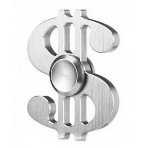 Fidget Spinner Aluminum Dollar Silver 3 min 21895