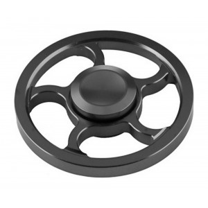 Fidget Spinner Aluminum Wind Wheel Alloy Black 3 min 21897